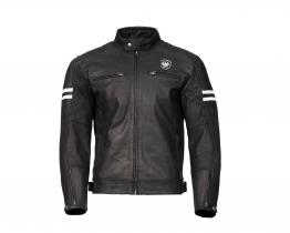 Merlin Hixon leather jacket front