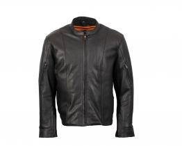 Milwaukee Leather Racer Style leather jacket front