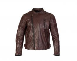 Merlin Lichfield Oxblood leather jacket front