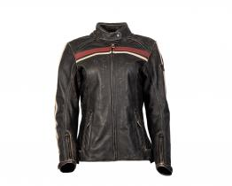 Triumph Ladies Raven leather jacket front