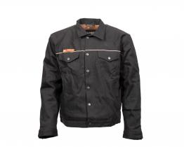 Resurgence Selvedge Bay Boy textile jacket front