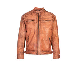 Blackbird Pembrey leather jacket front